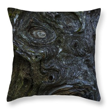 The Face Signed Throw Pillow