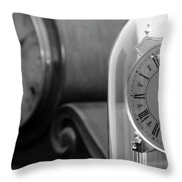 Throw Pillow featuring the photograph The Faces Of Time by Wanda Brandon