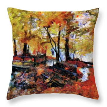 The Failing Colors Of Autumn Throw Pillow