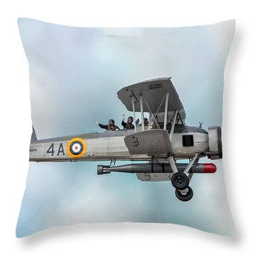 The Fairey Swordfish Throw Pillow