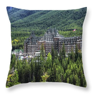 The Fairmont Banff Springs Throw Pillow
