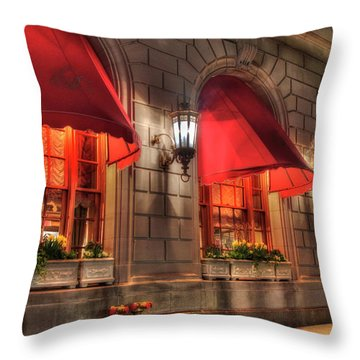 Throw Pillow featuring the photograph The Fairmont Copley Plaza Hotel - Boston by Joann Vitali