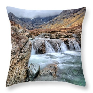 The Fairy Falls Throw Pillow