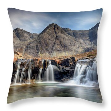 Throw Pillow featuring the photograph The Fairy Pools - Isle Of Skye 3 by Grant Glendinning