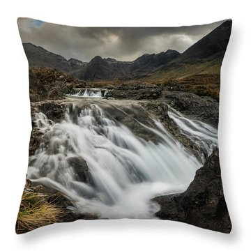 The Fairy Pools On Isle Of Skye Throw Pillow