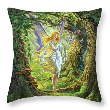 The Fairy Queen Throw Pillow