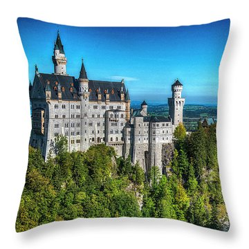 The Fairy Tale Castle Throw Pillow by Pravine Chester