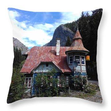 The Fairy Tale House  Throw Pillow
