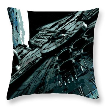 the Falcon Throw Pillow by George Pedro