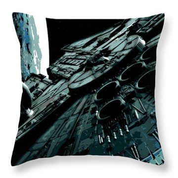 Space Ships Throw Pillows