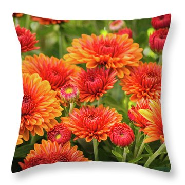 Throw Pillow featuring the photograph The Fall Bloom by Bill Pevlor