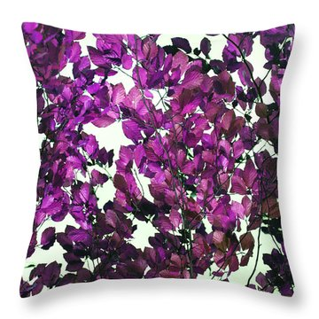 Throw Pillow featuring the photograph The Fall - Intense Fuchsia by Rebecca Harman