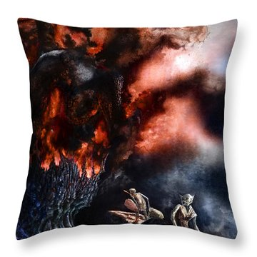 The Fall Of Azturath Throw Pillow by Curtiss Shaffer