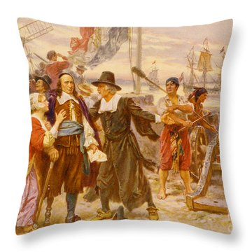 The Fall Of New Amsterdam Throw Pillow