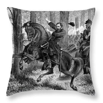 The Fall Of Reynolds -- Union Civil War Throw Pillow