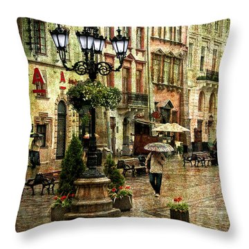 The Fall Of Spring Throw Pillow by Evelina Kremsdorf