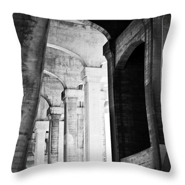 the fall of the house of Escher Throw Pillow