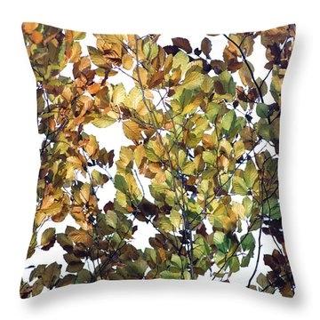Throw Pillow featuring the photograph The Fall by Rebecca Harman