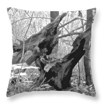 The Fallen - Dragon Skull Throw Pillow