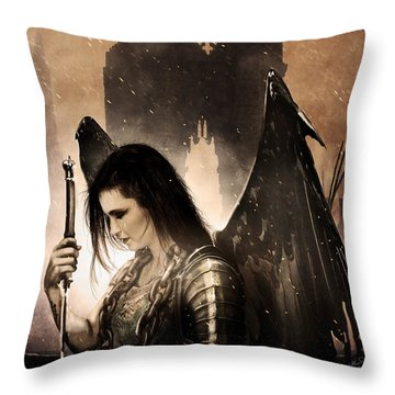 The Fallen Throw Pillow by Jeremy Martinson