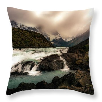 The Falls Throw Pillow by Andrew Matwijec