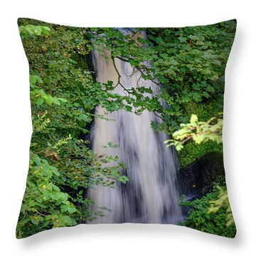 The Falls At Patie's Mill Throw Pillow