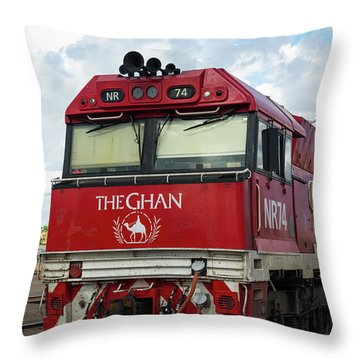 The Famed Ghan Train  Throw Pillow