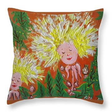 Family 2 Throw Pillow