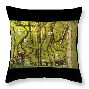 The Family Swing Set Throw Pillow