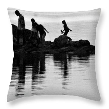 The Family That Plays Together Throw Pillow