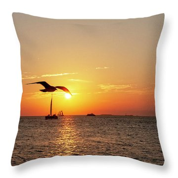 The Famous Key West Sunset  Throw Pillow