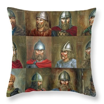 The Famous Vikings Throw Pillow by Arturas Slapsys