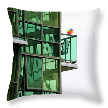 Throw Pillow featuring the photograph The Windmill by Chris Dutton