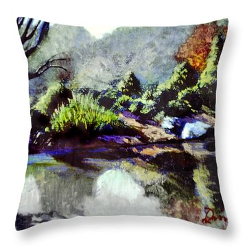 Brookside Gardens Paintings Throw Pillows