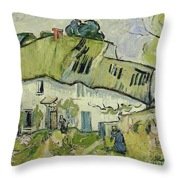 The Farm In Summer Throw Pillow by Vincent van Gogh