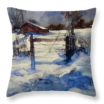 The Farm On Barry Throw Pillow