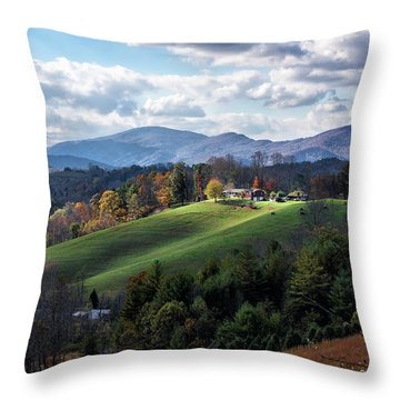 The Farm On The Hill Throw Pillow