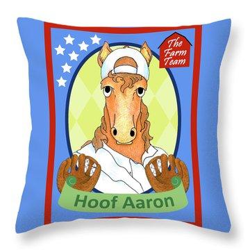 The Farm Team - Hoof Aaron Throw Pillow