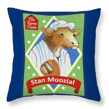 The Farm Team - Stan Moozial Throw Pillow