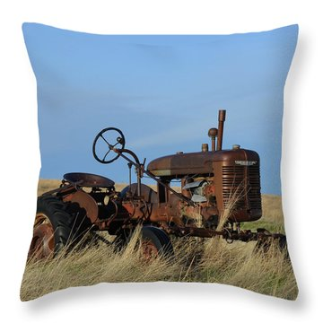 The Farmall Tractor Throw Pillow