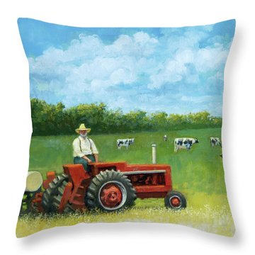 The Farmer Throw Pillow