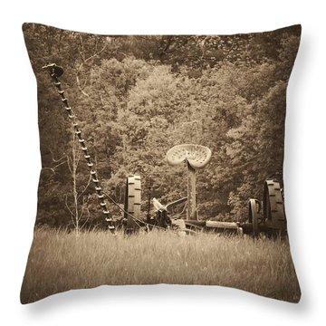 A Farmer's Field Throw Pillow