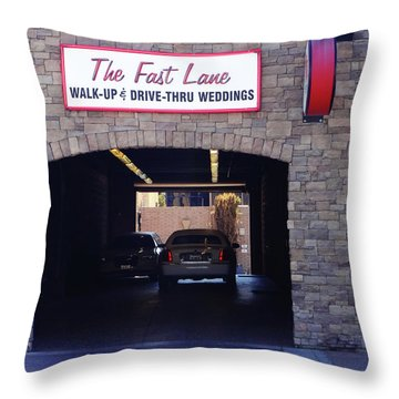 The Fast Lane 2 Throw Pillow by Bruce Iorio