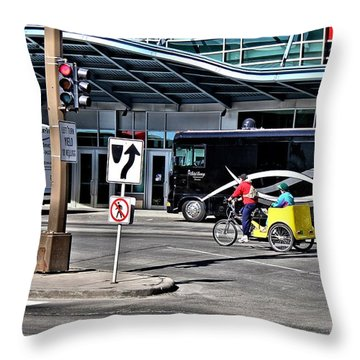 The Fast Lane Throw Pillow