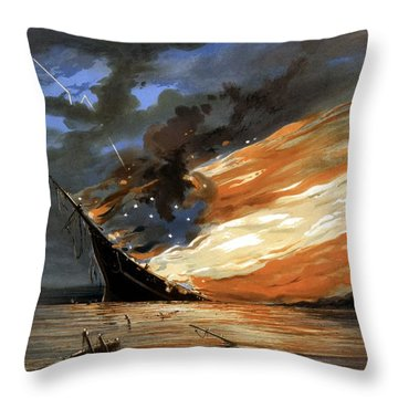 The Fate Of The Rebel Flag Throw Pillow by War Is Hell Store