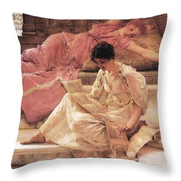 The Favorite Poet Throw Pillow