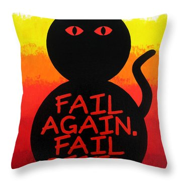 The Fearline Of Failure Throw Pillow by Oliver Johnston