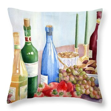 The Feast Throw Pillow by Deborah Ronglien