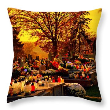 The Feast Of The Dead Throw Pillow