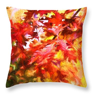 The Feel Of Autumn Throw Pillow